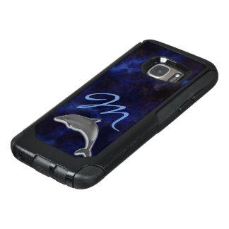Monogrammed Blue wonder Dolphin OtterBox Samsung Galaxy S7 Case