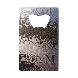 Monogrammed Brown Grey Shimmering Snakeskin Effect