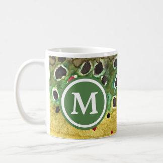 Monogrammed Brown Trout Fishing Coffee Mug