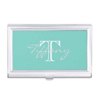 Monogrammed Case For Business Cards