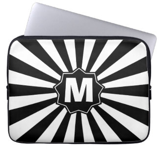 Monogrammed BW Wham Bam Laptop Sleeves