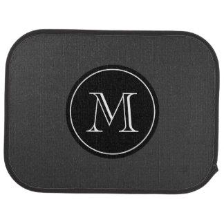 Monogrammed car mats with elegant initial letter floor mat