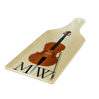 Monogrammed Cello Cutting Board
