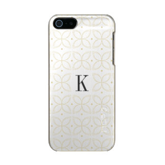 Monogrammed classic gold pattern iPhone case Incipio Feather® Shine iPhone 5 Case