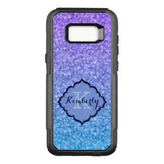 Monogrammed Colorful Glitter OtterBox Commuter Samsung Galaxy S8+ Case