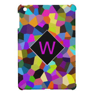 Monogrammed Confetti in Jewel Tones Cover For The iPad Mini