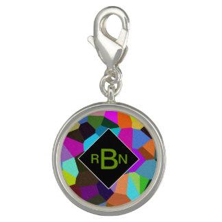 Monogrammed Confetti in Jewel Tones Bracelets
