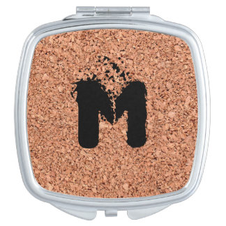 Monogrammed Cork Board - Personalizable Vanity Mirror