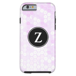 Monogrammed Cotton Candy Sequin Glitter Tough iPhone 6 Case
