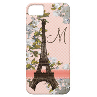 Monogrammed Eiffel Tower Barely There iPhone 5 Case