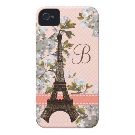 Monogrammed Eiffel Tower Blackberry Bold Case Cove