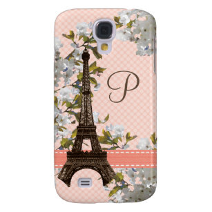 Monogrammed Eiffel Tower Galaxy S4 Cover