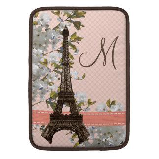 Monogrammed Eiffel Tower MacBook Air Sleeve 13/11