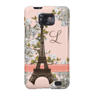 Monogrammed Eiffel Tower Samsung Galaxy S Case Cov Galaxy S2 Covers