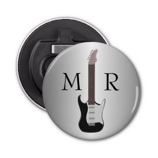 Monogrammed Electric Guitar Bottle Opener