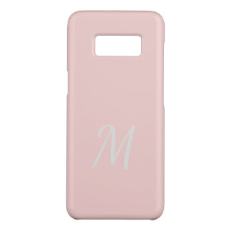 Monogrammed Elegant Soft Pale Pink Case