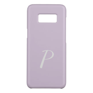 Monogrammed Elegant Soft Pink Lilac Case