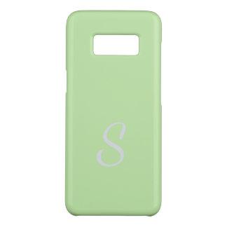 Monogrammed Elegant Soft Spring Green Case
