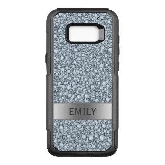 Monogrammed Encrusted Diamonds Glitter OtterBox Commuter Samsung Galaxy S8+ Case