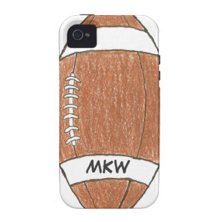 Monogrammed football theme iPhone case iPhone 4 Case