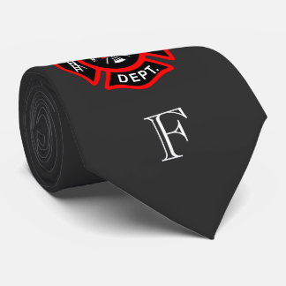 Monogrammed Gift for Firefighter Maltese Cross Tie