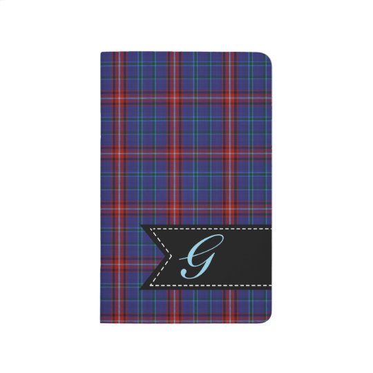 Monogrammed Glenn Plaid Pocket Journal