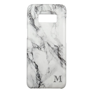 Monogrammed Gray And Black Marble Stone Case-Mate Samsung Galaxy S8 Case