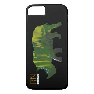 monogrammed green rhino iPhone 7 case