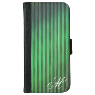 Monogrammed Green Stripes Phone Case