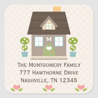 Monogrammed Home Address Stickers