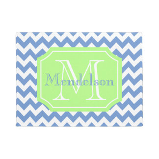 Monogrammed home decor doormat