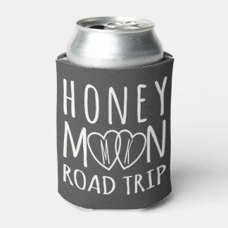 Monogrammed Honeymoon Road Trip Can Cooler
