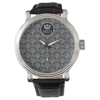 Monogrammed HS Royal Black Peddler Watch