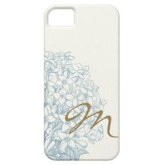 Monogrammed Hydrangea iPhone 5 Cover