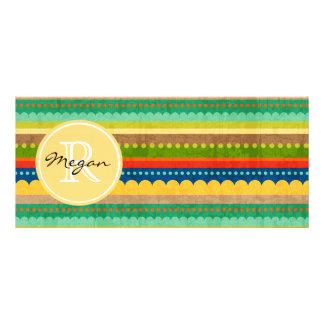 Monogrammed Indian Blanket Rack Card Design