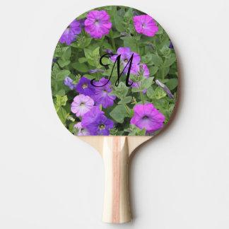 Monogrammed Initials Girly Purple Flowers Spring