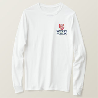 Monogrammed Initials Notary Public Customized Embroidered Long Sleeve T-Shirt