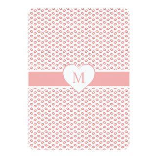 Monogrammed Lipstick Kisses Card
