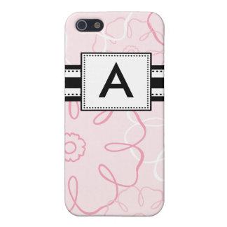 Monogrammed Mod Pink Floral Case For iPhone 5/5S