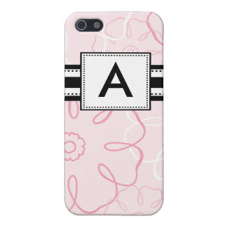 Monogrammed Mod Pink Floral Covers For iPhone 5