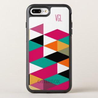 Monogrammed Modern Colorful Geometric Pattern OtterBox Symmetry iPhone 8 Plus/7 Plus Case
