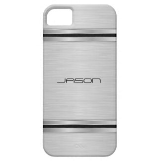 Monogrammed Modern Silver Metallic Design Case For The iPhone 5