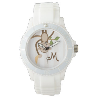 Monogrammed Monkey Banana Watch