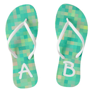Monogrammed Multicolor Pattern Thongs