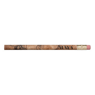 Monogrammed Natural Wooden Design Pencil