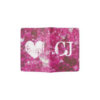 Monogrammed passport holder | pink gem stone photo