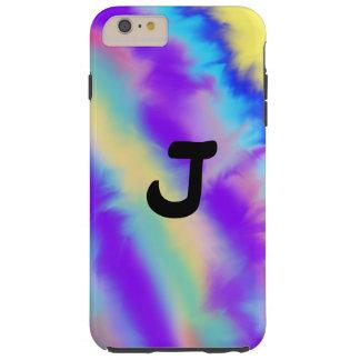 Monogrammed Pastels Chevron girly pattern Tough iPhone 6 Plus Case