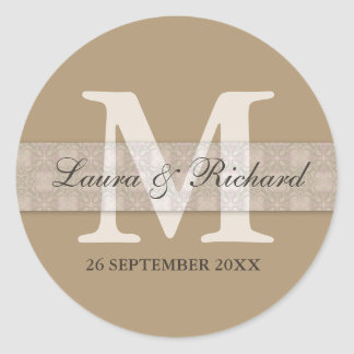 Monogrammed Personalised Wedding Favour Stickers