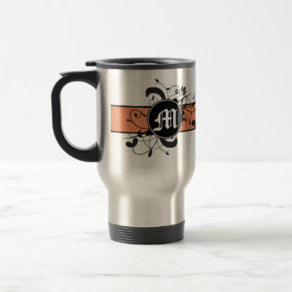 Monogrammed Personalized Fancy Flourish Travel Mug