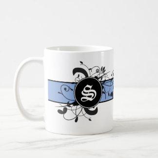 Monogrammed Personalized Victorian Flourish Coffee Mug